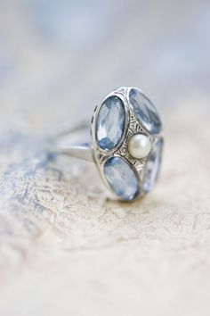 Beautiful blue ring