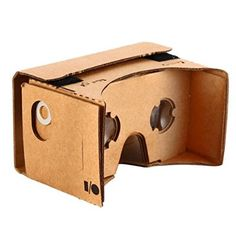 KR-NET Bigger Google Cardboard - VR 3D Virtual Reality Glasses Camera Headset Controller DIY Kit for Large Smart Phone Galaxy Note 3 4 5 iPhone 6/6S Plus 5.7""