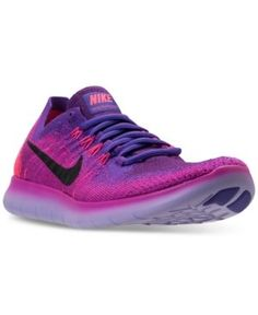 NIKE WOMEN'S FREE RUN FLYKNIT 2017 RUNNING SNEAKERS FROM FINISH LINE. #nike  #shoes