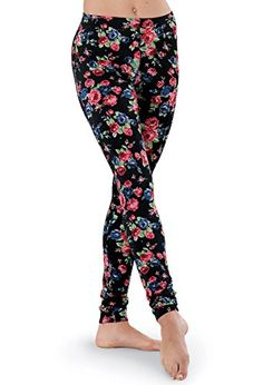 fc50a80815a Balera Leggings Ankle Length Floral Print at Amazon Women s Clothing store