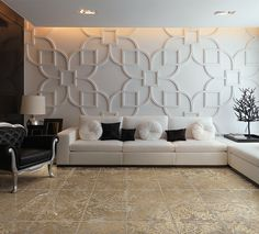 Cool millwork on the wall!    Interiors @Cerdomus Ceramiche Ceramiche Ceramiche Ceramiche
