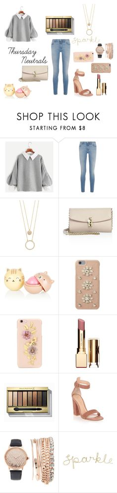 """""""Thursday Neutrals"""" by lost-in-wonderland9008 ❤ liked on Polyvore featuring Givenchy, Kate Spade, Dolce&Gabbana, MICHAEL Michael Kors, Clarins, Max Factor, Gianvito Rossi and Jessica Carlyle"""