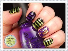 Brandy's Nailtastic Blog: Stripes #3: Witch's Tights