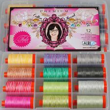 Aurifil Thread TULA PINK PREMIUM COLLECTION Cotton Mako 50 wt 12 Spools