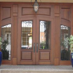 St. John Square Office Building - This massive entry, DbyD-6010, was custom designed and built of Mahogany for the St. John Square Office B...