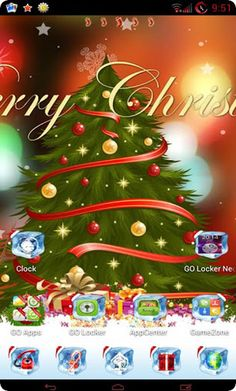 screenshot christmas theme for android. www.victorstuff.com Christmas Themes, Christmas Ornaments, Holiday Decor, Android Theme, Clock, Unique, Design, Home Decor, Xmas Ornaments