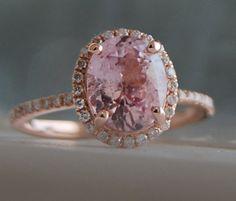SALE  2.38ct Oval Blush peach champagne sapphire by EidelPrecious, $1950.00