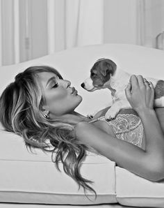 Candice and puppy