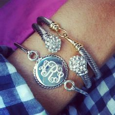 Sterling Silver Bangle w/braided disc $99