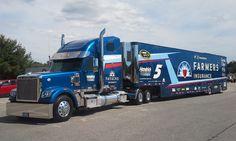 Freightliner, Farmers Insurance, NASCAR, Hendrick Motorsports, Transporter, Hauler