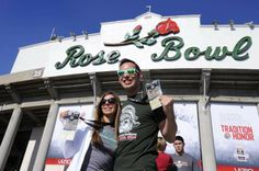Sea of green washes over Rose Bowl