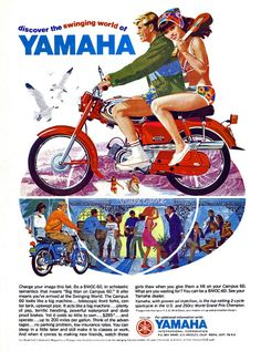 Vintage Yamaha Motorcycle Magazine Ad!