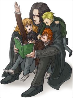 Snape and his students.