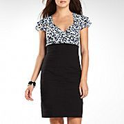 nicole by Nicole Miller® Draped-Top Panel Dress  $35