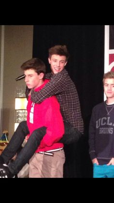 Shawn and Cam. I love how Shawn looks like he's lifting a feather