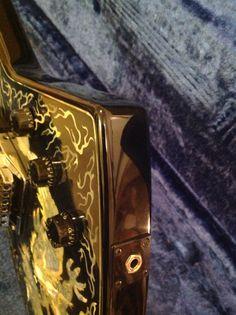 Rare 1987 Lotus Inlaid Dragon Explorer Guitar - Cort