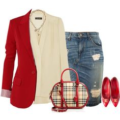 Burberry satchel by lenaick on Polyvore featuring moda, Isabel Marant, rag & bone, Chanel, Burberry and GUESS