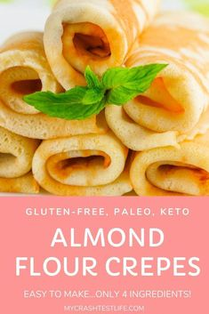 Recipes Snacks Baking Perfect for breakfast or a snack, these Almond Flour Crepes are easy to make and only take 4 ingredients. Eggs, almond flour, milk and butter are combined to form a delicious paleo, gluten-free and keto-friendly crepe. Paleo Recipes, Low Carb Recipes, Cooking Recipes, Paleo Food, Paleo Meals, Paleo Diet, Vegetarian Paleo, Cooking Tips, Gluten Free Breakfasts