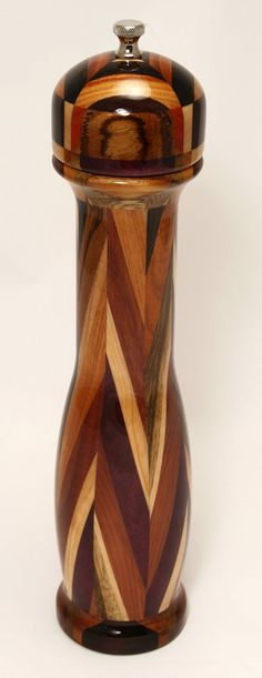 Wood Pepper Mill or Salt Grinder  Handcrafted Modern by g3studios