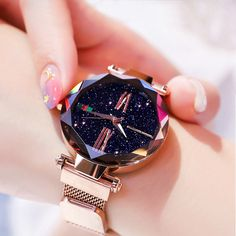 Luxury Starry Sky Magnetic Waterproof Watch – Watch for everyone Big Watches, Stylish Watches, Sport Watches, Luxury Watches, Cool Watches, Watches For Men, Cheap Watches, Rolex Watches, Fashion Star