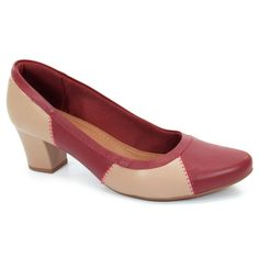Sapato Salto Médio Usaflex Vegetal Amora - Q6631/10