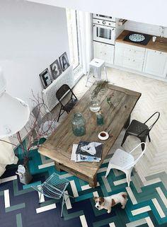 I love the herringbone floor!!