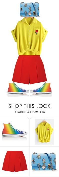 """""""pride"""" by ecem1 ❤ liked on Polyvore featuring Converse, Alice + Olivia, Prada and pride"""