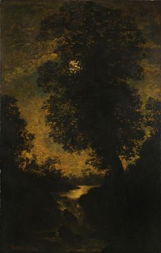 A Waterfall, Moonlight Ralph Albert Blakelock c. 1886