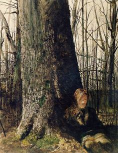 Andrew Wyeth (1917 — 2009, USA) Seated by a Tree. 1973 watercolor on paper. 27.9 x 21.5 in. (70.9 x 54.6 cm.) © Pacific Sun