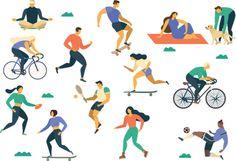 Vztah ke stravování a pohybu podle našich povahových rysů - Blog KalorickeTabulky.cz Sports Activities, Flat Illustration, Young People, How To Do Yoga, Runes, Young Women, Nasa, Blog, Art Gallery
