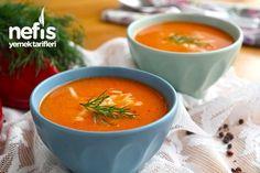 Közlenmiş kırmızı biber çorbası nasıl yapılır
