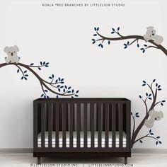 Kids Wall Decals Baby Nursery Sticker Wall Tree by TheKoalaStore, $79.00
