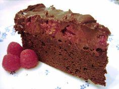 Gluten-free chocolate raspberry truffle cake