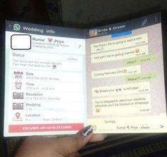 Resultado de imagen para man receives wedding invitation on whatsapp