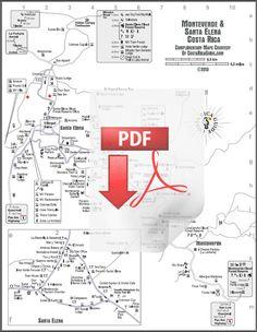Monteverde and Santa Elena printable PDF maps download Printable Maps, Free Printables, Forest Trail, Monteverde, Costa Rica, Tours, Activities, Lodges, Cloud