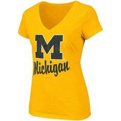 Michigan Wolverines Ladies Stadium T-Shirt - Maize #UltimateTailgate #Fanatics