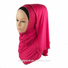 Check out this product on Alibaba.com APP Classic design black color zipper jersey handmade hijab and rhinestones jerey hijab