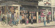 Cambridge market panorama by Peter Wenman, via Behance
