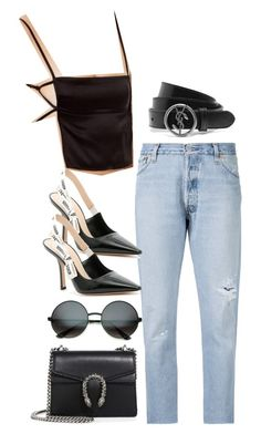 """Sem título #126"" by guccislave ❤ liked on Polyvore featuring Misa, RE/DONE, Christian Dior, Gucci and Yves Saint Laurent"
