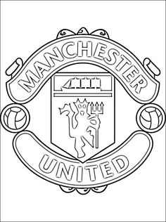 Coloring Page Of Manchester United FC Logo