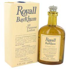 Royall Bay Rhum 8-ounce. All Purpose Lotion/ Cologne (Royall Bay Rhum 8 oz All Purpose Lotion / Cologne for Men), Blue wash, Size 7.1 - 8 Oz.
