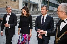 CBS 100th anniversary: CBS 100th anniversary  The Crown Prince and Crown Princess took part Friday, March 24, 2017 at a gala dinner on the occasion of the Copenhagen Business School's 100th anniversary in Copenhagen.     Here you can see the Royal Couple on arrival at CBS with Managing. Director of Danish Industry Karsten Dybvad and President of CBS Per Holten-Andersen.