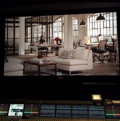 Here's Annie's office in #theintern. | #NancyMeyers' behind-the-scenes instagrams on the set of The Intern, starring Robert De Niro and Anne Hathaway.