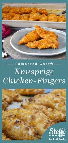 Chicken Fingers, Chicken Nuggets, Grill Stone, Pampered Chef Recipes, Finger Foods, Food And Drink, Snacks, Stuffed Peppers, Finger Food