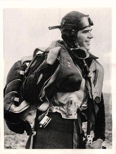 1942- Pilot officer John J. Mooney, member of the American Eagle Squadron of the R.A.F., shown after dowing his first enemy plane. Mooney was killed in action June 16th, 1942 at the age of 22.