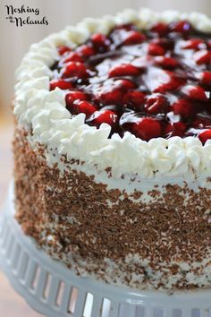 Black Forest Cake is Ken's favorite and I have never made it for him, so for a special Father's Day treat I made him this gorgeous cake!!
