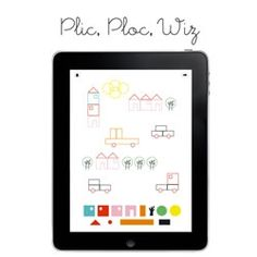 Plic, Ploc, Wiz, a cute app for kids by Céline Vernier of Pepillo.