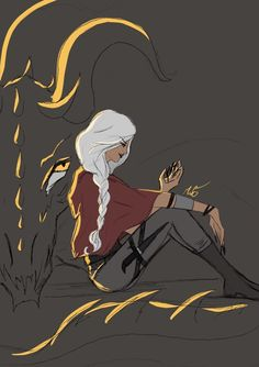 Manon Blackbeak by marsketch. Heir of Fire. Queen of Shadows. Empire of Storms. Sarah J Maas
