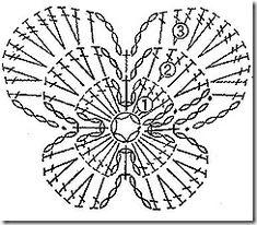 Crochet Buterfly - Chart ❥ 4U / /hf