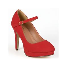 Journee Collection Shelby Women's Platform Mary Jane Heels, Teens, Size: 8.5 Wide, Red